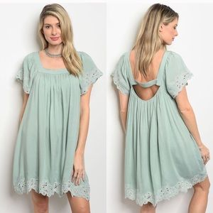 Coming Soon! Mint Boho Dress